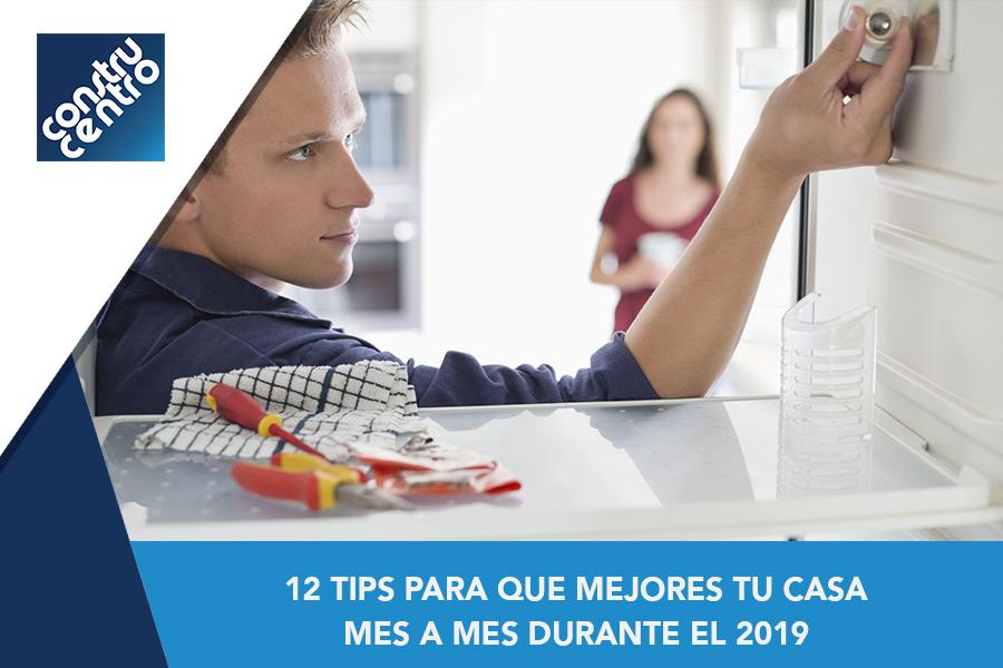 12 Tips para que mejores tu casa mes a mes durante el 2019